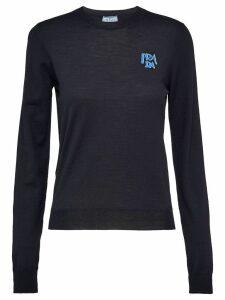 Prada intarsia logo sweater - Black
