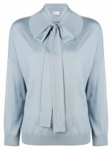 Red Valentino tie detail jumper - Blue