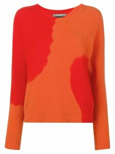 Suzusan two-tone printed sweater - Red