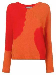 Suzusan two-tone printed sweater - Red