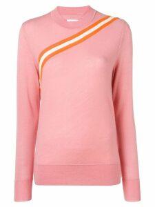 Calvin Klein diagonal stripe knitted top - Pink