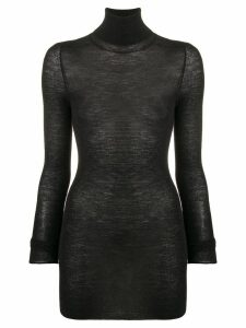 Golden Goose sheer turtleneck sweater - Black