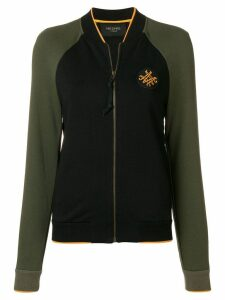 Mr & Mrs Italy two-tone zipped sweatshirt - Green