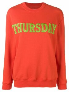 Alberta Ferretti Thursday jersey sweatshirt - ORANGE