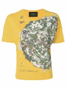 Mr & Mrs Italy camouflage print T-shirt - Yellow