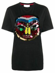 No Ka' Oi Tribal sequinned icon T-shirt - Black
