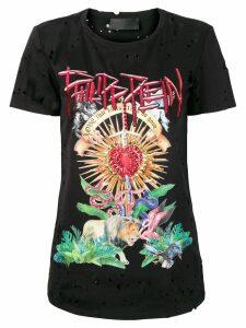 Philipp Plein Love That Hurts T-shirt - Black