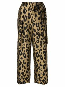 Petar Petrov Harell high waisted trousers - GOLD