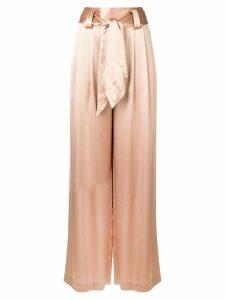 Tory Burch shiny wide-leg trousers - NEUTRALS