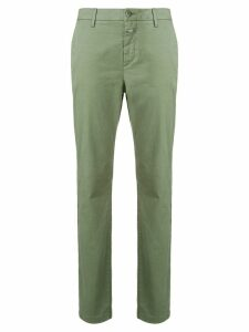 Closed slim-fit trousers - Green