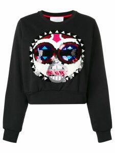 No Ka' Oi sequin sweatshirt - Black