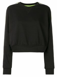 No Ka' Oi cropped sport sweatshirt - Black