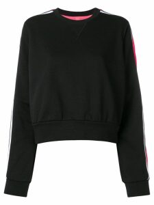 No Ka' Oi stripe sleeve sweatshirt - Black