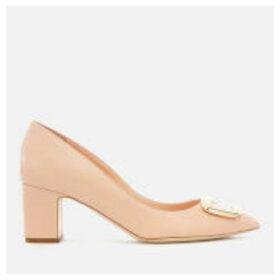 Rupert Sanderson Women's New Clava Leather Block Heeled Court Shoes - Buttermilk - UK 7 - Nude