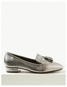 M&S Collection Wide Fit Leather Tassel Loafers