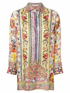 Etro bohemian flower print shirt - Neutrals