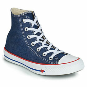 Converse  CHUCK TAYLOR ALL STAR SUCKER FOR LOVE TEXTILE HI  women's Shoes (High-top Trainers) in Blue