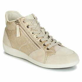 Geox  D MYRIA  women's Shoes (High-top Trainers) in Gold