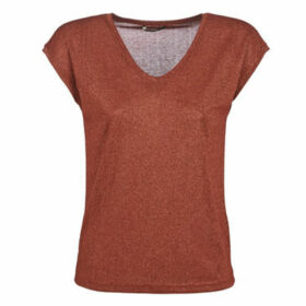 Only  ONLSILVERY  women's T shirt in Brown