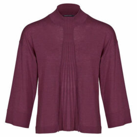 Mado Et Les Autres  VICKY 3/4 sleeve short sweater  women's Blouse in Purple