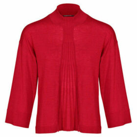 Mado Et Les Autres  VICKY 3/4 sleeve short sweater  women's Blouse in Red