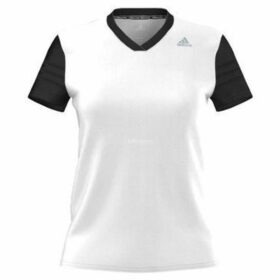 adidas  Response Cap Sleeve Tee  women's T shirt in White