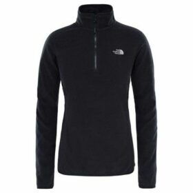 The North Face  100 Glacier 14 Zip  women's Fleece jacket in Black