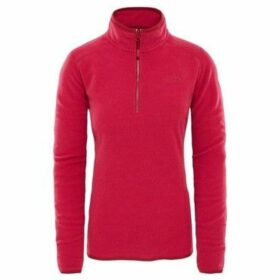 The North Face  100 Glacier 14 Zip  women's Sweatshirt in Pink