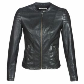 Naf Naf  CLIM  women's Leather jacket in Black