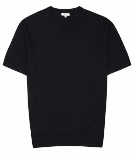 Reiss Wiltshire - Merino Crew Neck Top in Navy, Mens, Size XXL