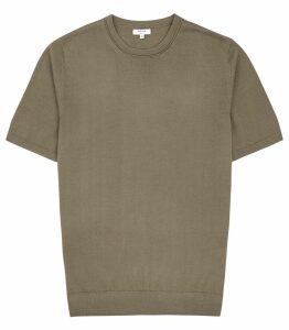 Reiss Wiltshire - Merino Crew Neck Top in Khaki, Mens, Size XXL