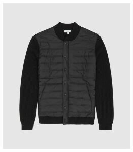 Reiss Watson - Quilted Button Through in Black, Mens, Size XS