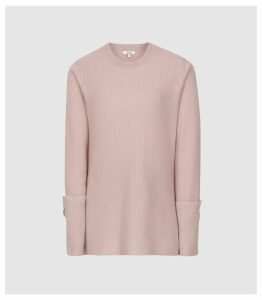 Reiss Eva - Wool Cashmere Blend Jumper in Pink, Womens, Size XXL