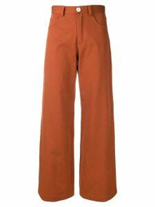 Société Anonyme Paulette wide leg trousers - ORANGE