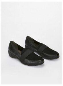Wide Fit Black Comfort Wedges, Black