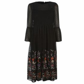 Only Vanilla Embroidery Dress - Black Emb