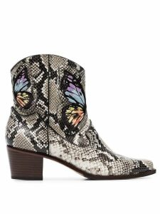 Sophia Webster multicoloured Shelby 50 snake print leather cowboy