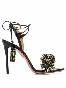 Aquazzura Wild Crystal 105 sandals - Black