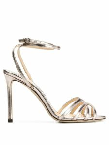 Jimmy Choo Platinum Mimi 100 sandals - Metallic