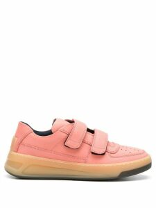 Acne Studios Steffey Nubuk leather sneakers - PINK