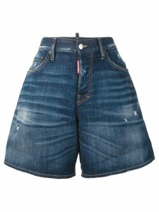 Dsquared2 wide leg denim shorts - Blue