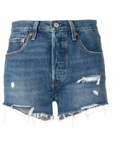 Levi's frayed edge shorts - Blue