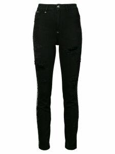 Philipp Plein distressed skinny jeans - Black