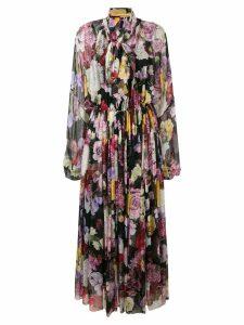 Dolce & Gabbana printed silk dress - Black