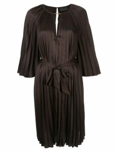 Ginger & Smart Depth pleat dress - Brown