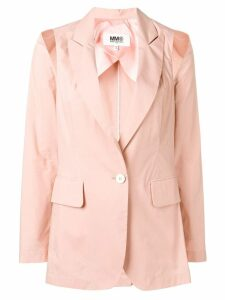 Mm6 Maison Margiela cut-out detail blazer - PINK