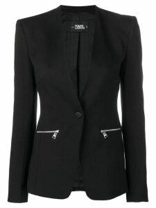 Karl Lagerfeld logo tape blazer - Black