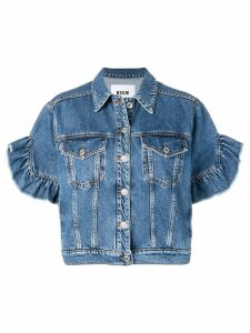 MSGM short sleeved denim jacket - Blue