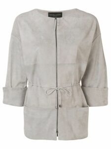 Fabiana Filippi suede panels jacket - Grey