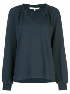 Tibi ruffle neck blouse - Blue
